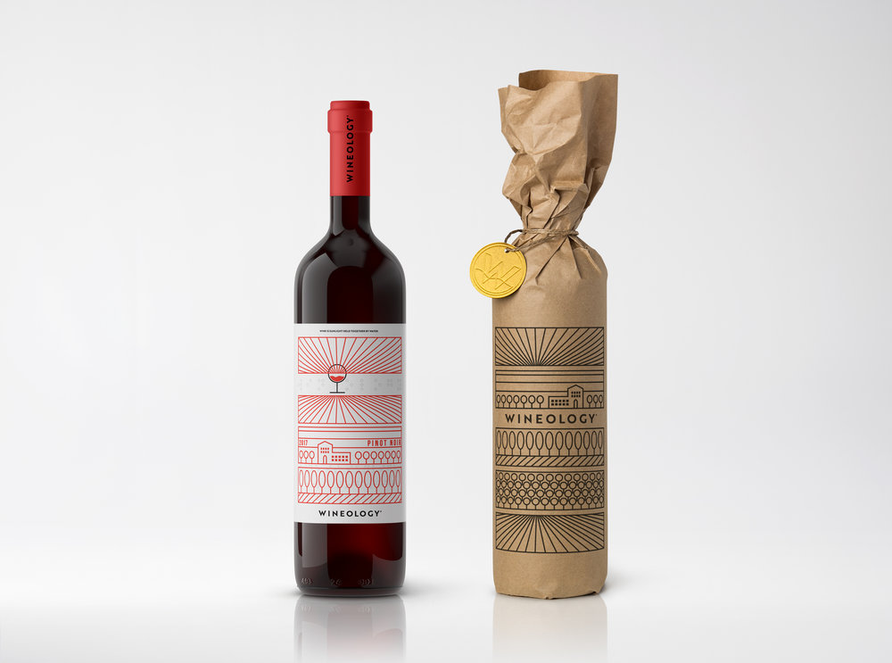 Identity and Packaging for Wineology