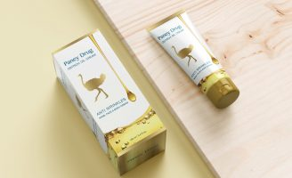Packing Design for PanyDrug Cosmetic Ostrich Oil Cream from Iran