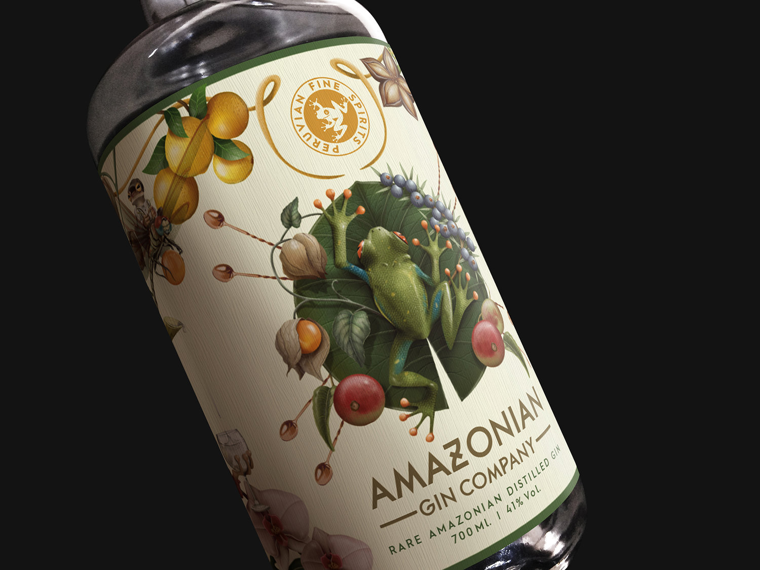 Branding, Illustration and Packaging for Amazonian Gin Company Perú