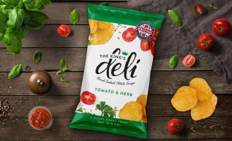 Brand and Packaging Design for The King's Deli Crisps