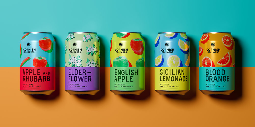 Cornish Orchards Partners With Thirst Craft to Give Their Softs Range a Fresh, Fun and Fruity New Look