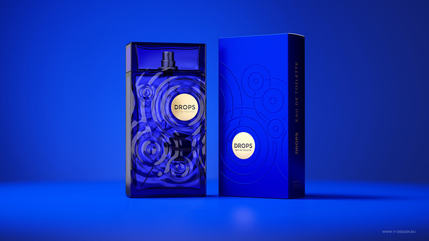 Eau De Toilette Drops Concept and Package Design