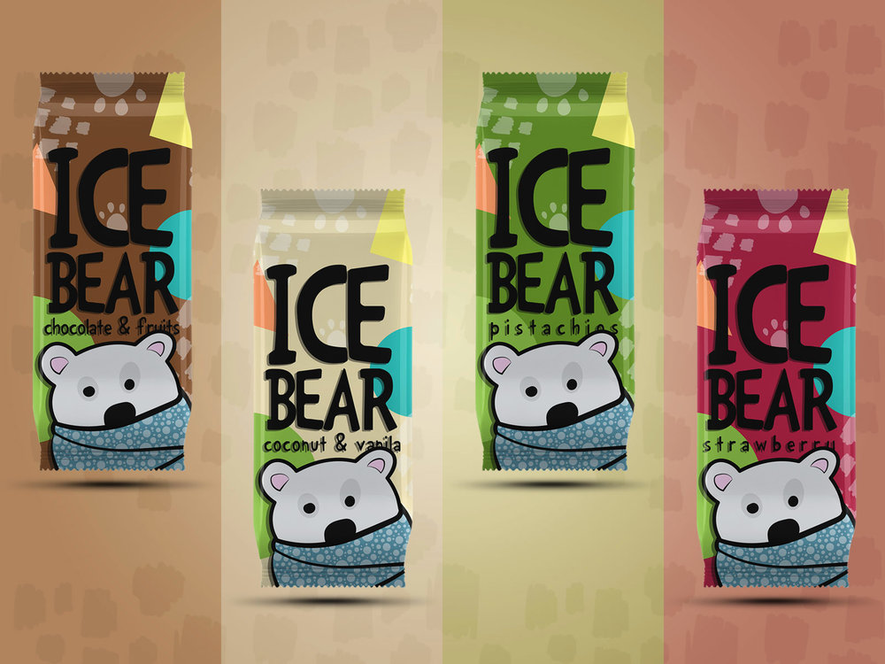 Packaging Design Concept for Ice Bear Ice Cream