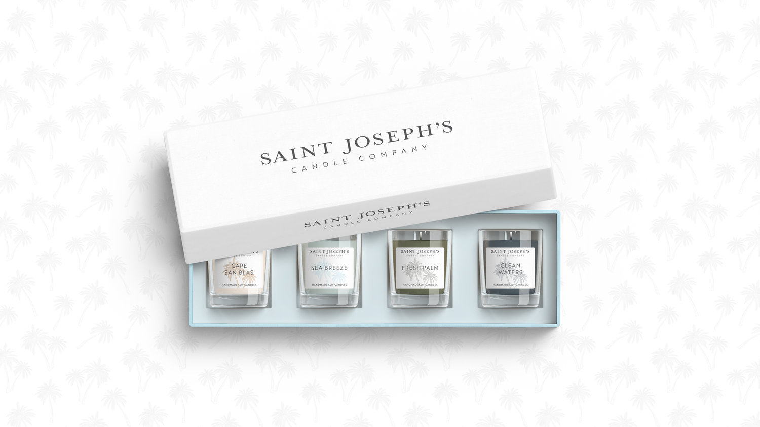 Brand and Packaging Design for Saint Joseph's Candle Company