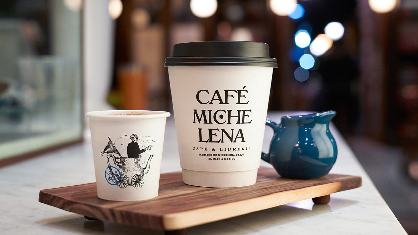 Branding and Packaging Design for Bookstore-Coffeeshop in downtown Morelia, Mexico