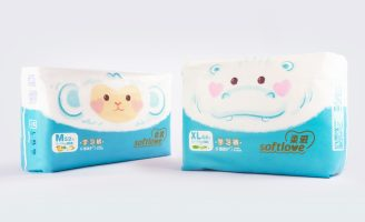 Packaging Design for Softlove Superthin Diaper and Wipes Brand
