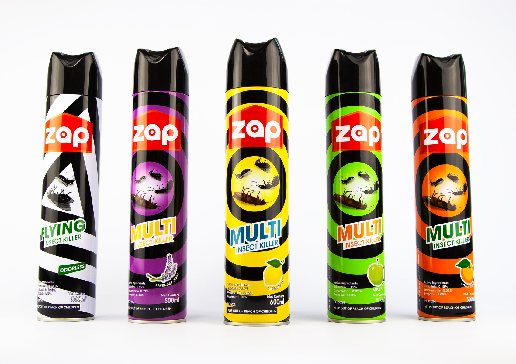 ZAP Brand Logo and Product Packaging Design