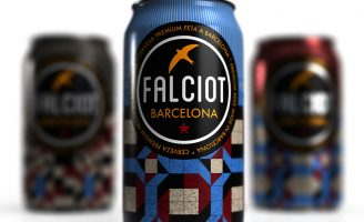 Brand and line design for new beer cans made in Barcelona