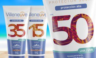 New Villeneuve Sunscreen Packaging Design