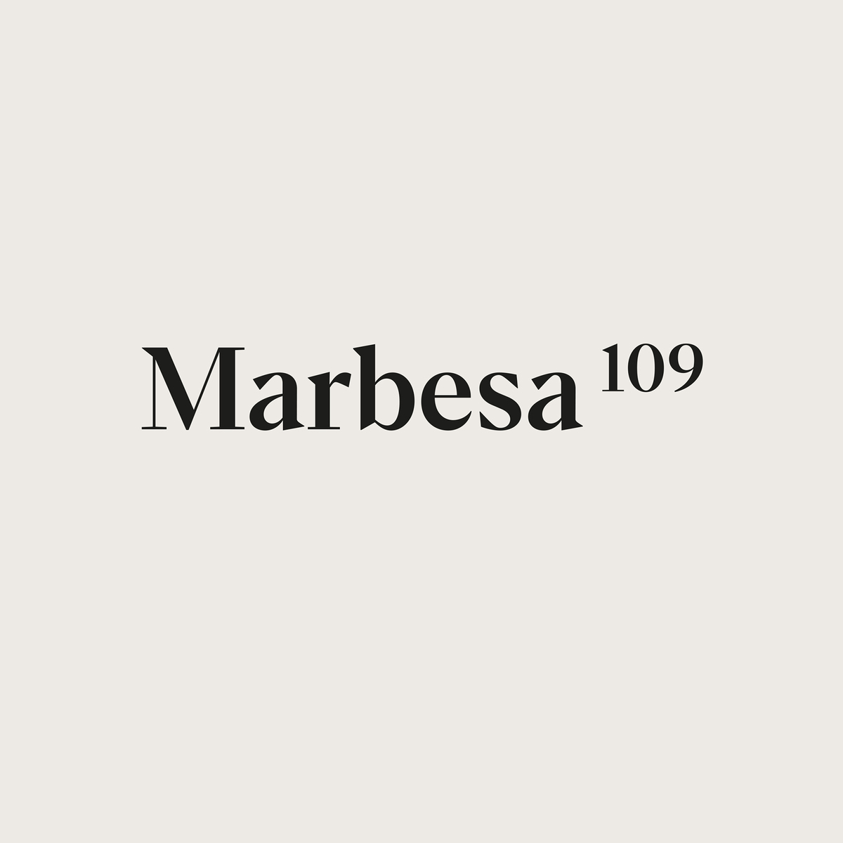 Brand identity for real estate project – Marbesa 109 located in Spain