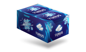 Belli Creative Studio created blister pack design of pillow-shaped chewing gum, Yunus