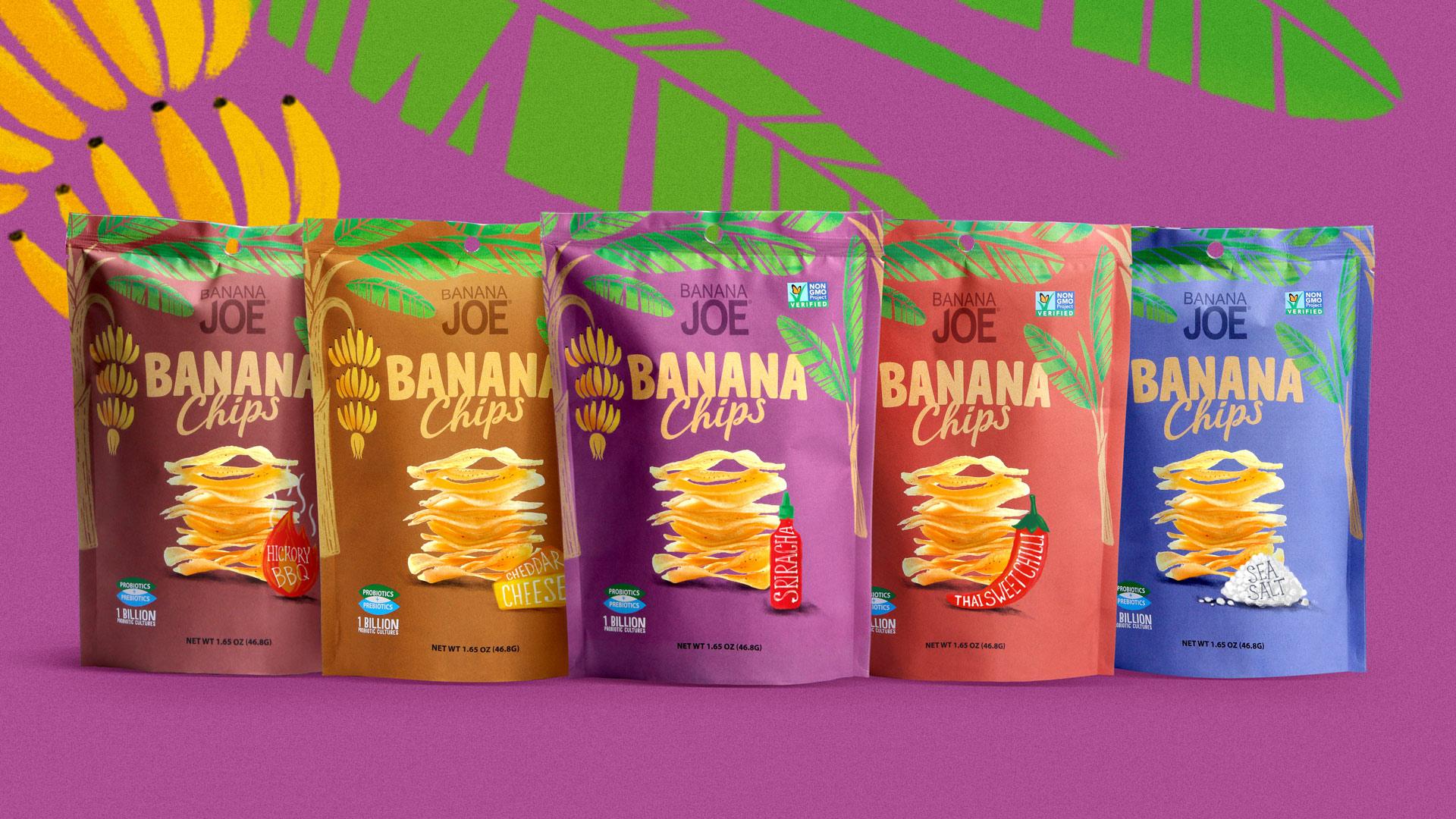 PROFSOYUZ Created New Packaging Design for Banana Chips
