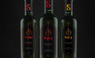 SUPAY packaging design for a Peruvian chili oil