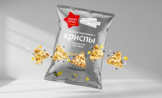 Package Design Wholegrain Chips Happy Crisp