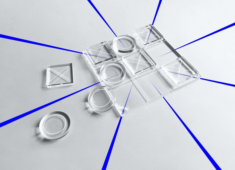 Redesigned and Minimalist Tic Tac Toe Set