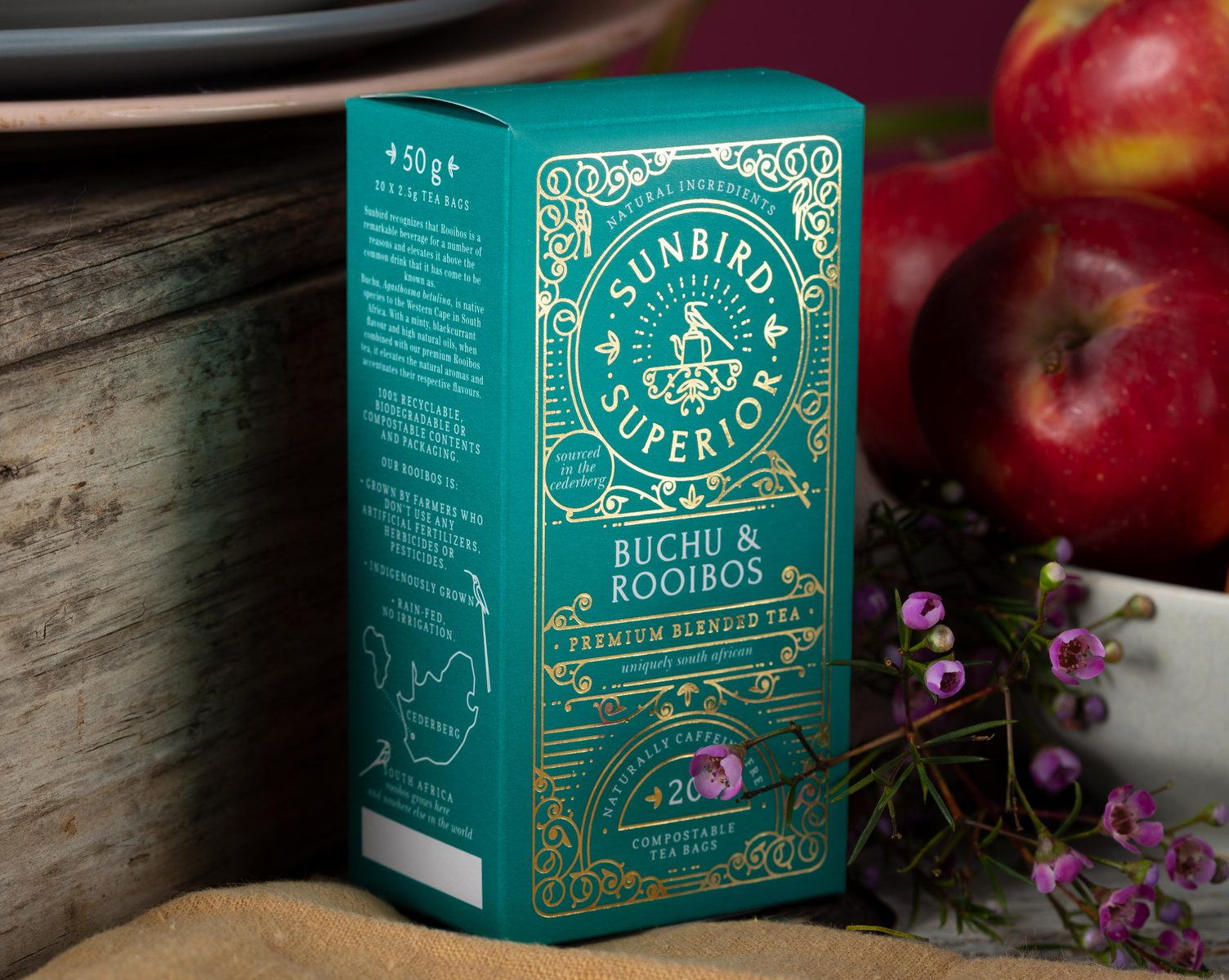 Sunbird Superior Rooibos Range New Packaging Design by Creating A Storm