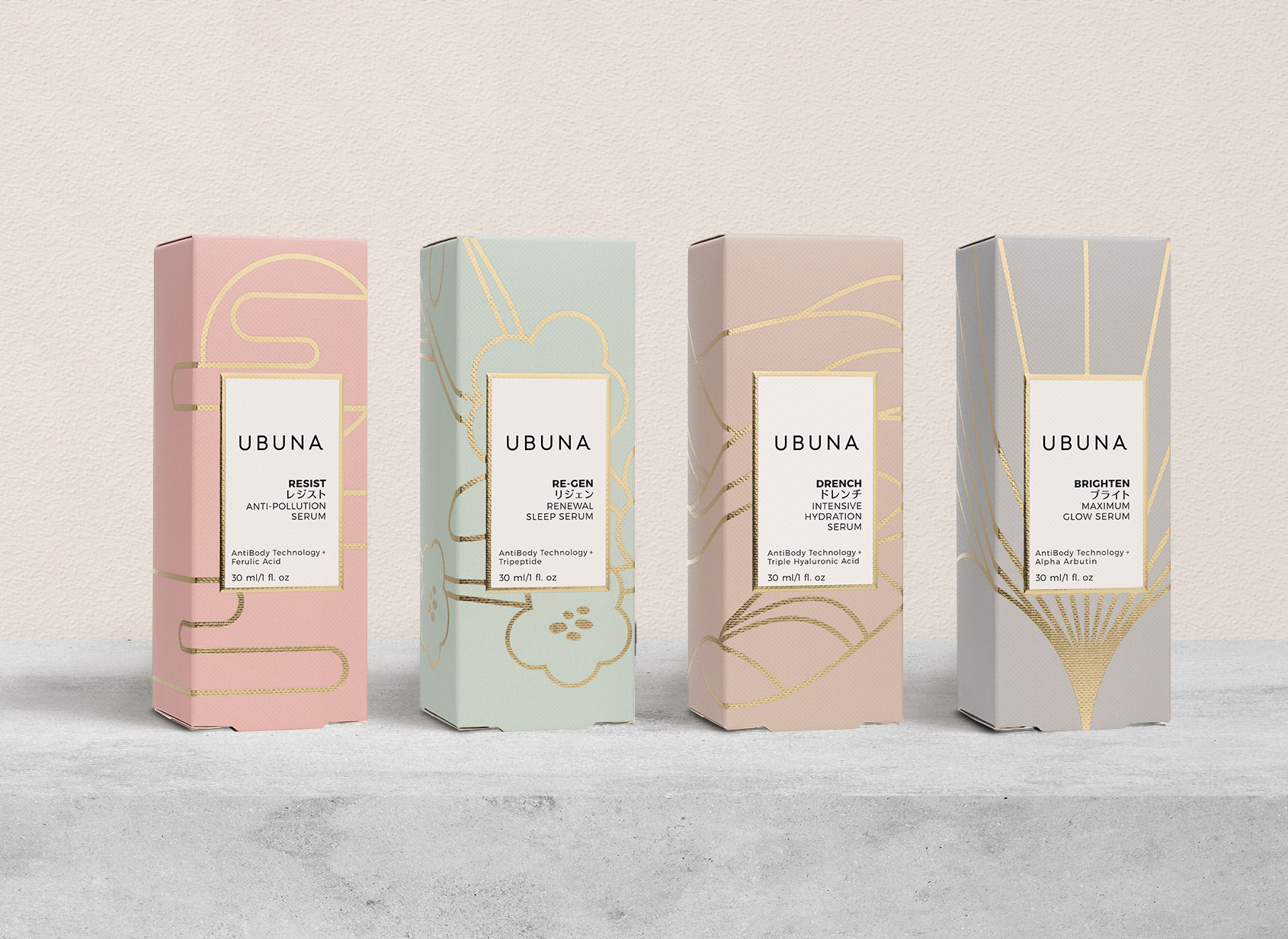Ubuna Skincare Branding And Packaging Design By Product 360