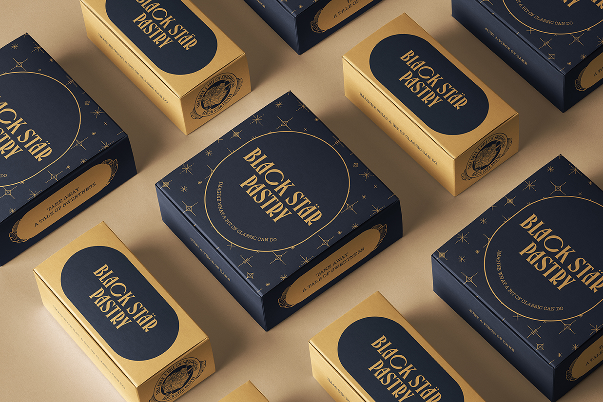 Identity and Packaging Design for Black Star Pastry