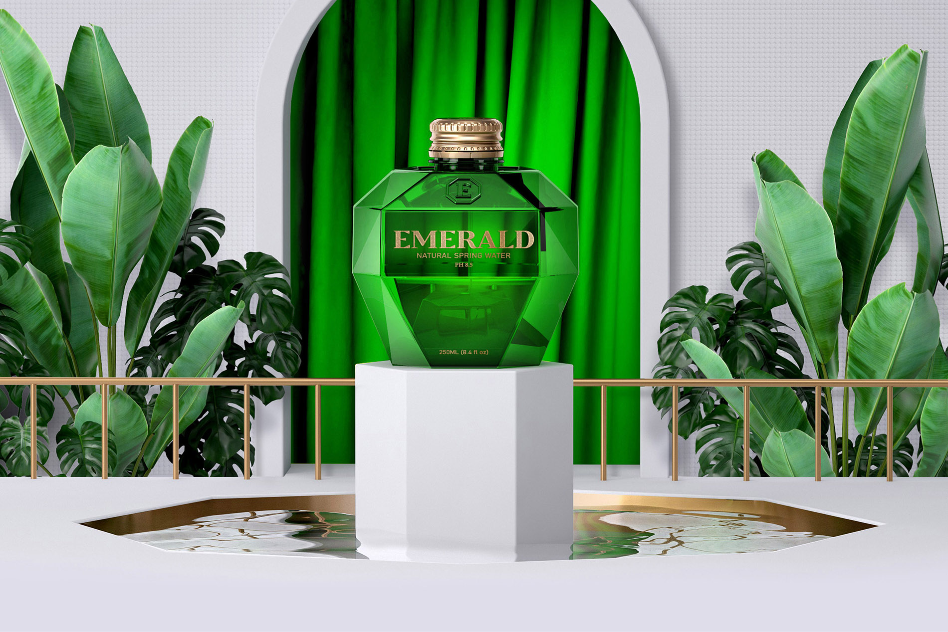 Emerald  Packaging Concept for Spring Water