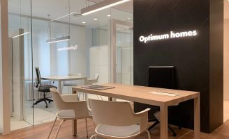 Boutique creative agency designs a new visual identity for Optimum homes brand