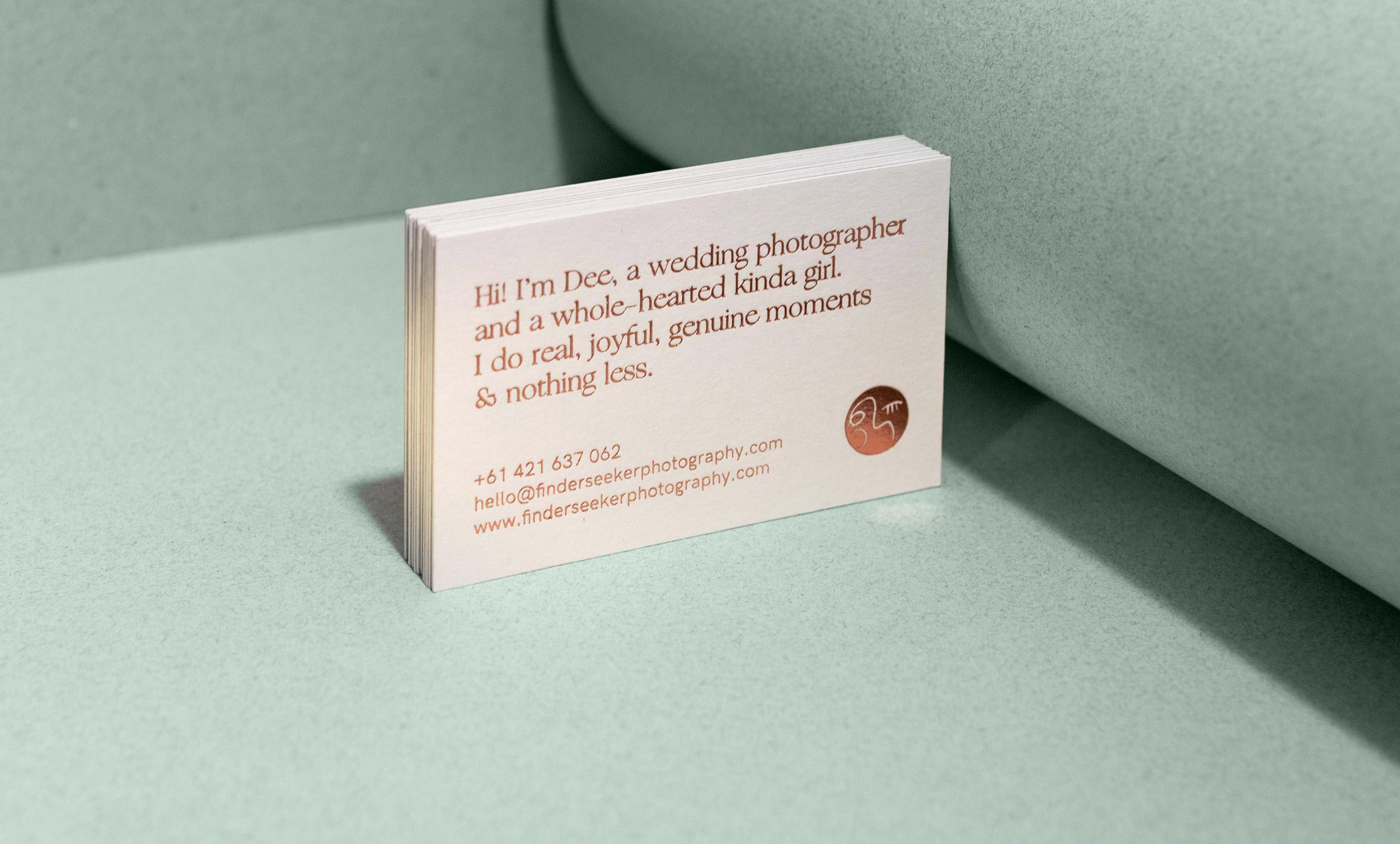 Finder Seeker, Branding for a Wedding Photographer