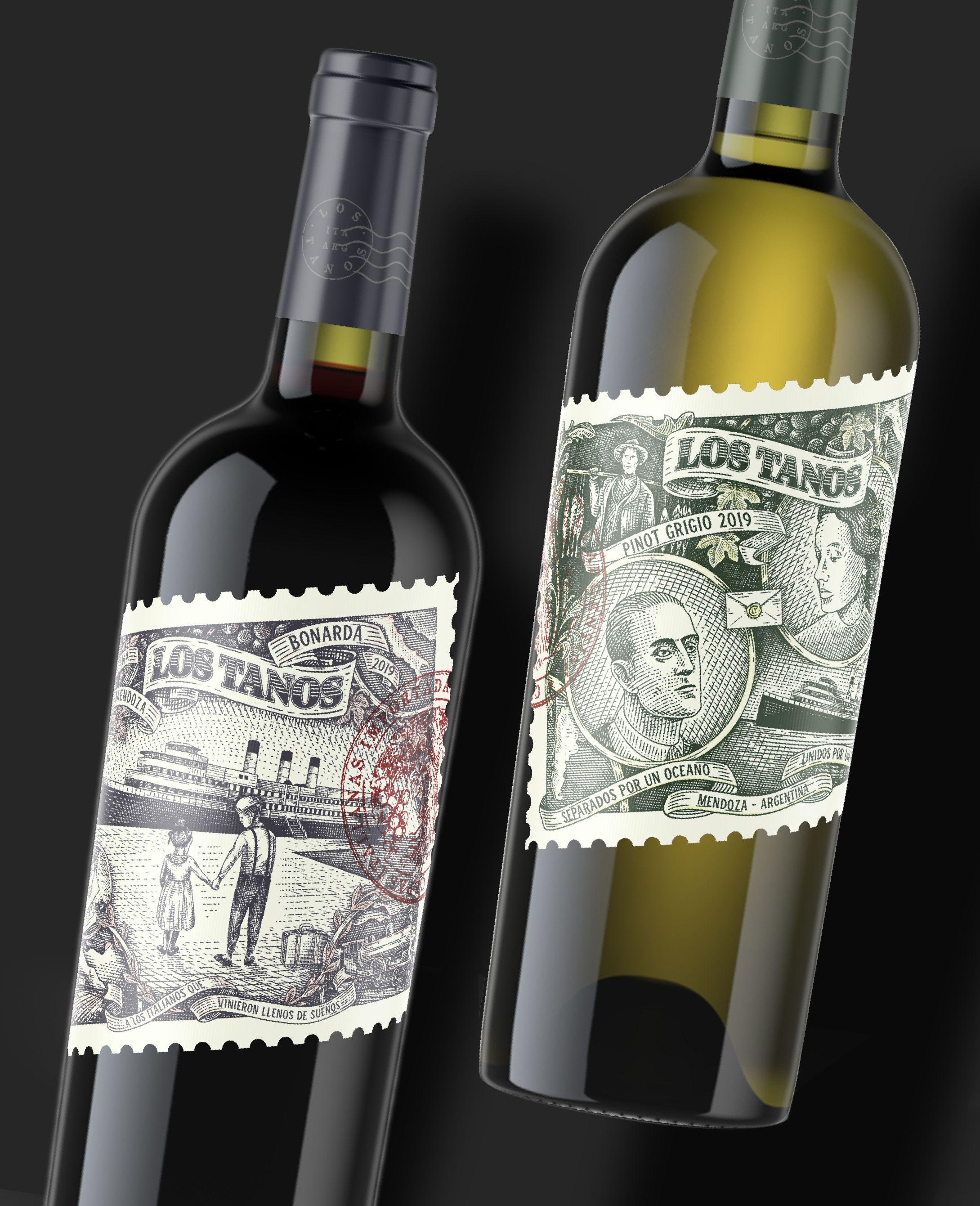LOS TANOS Wine Label