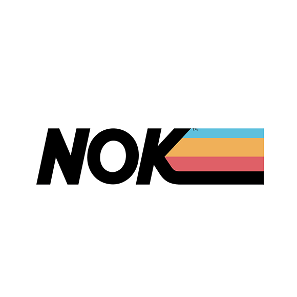 Nok Energy drink logo and branding