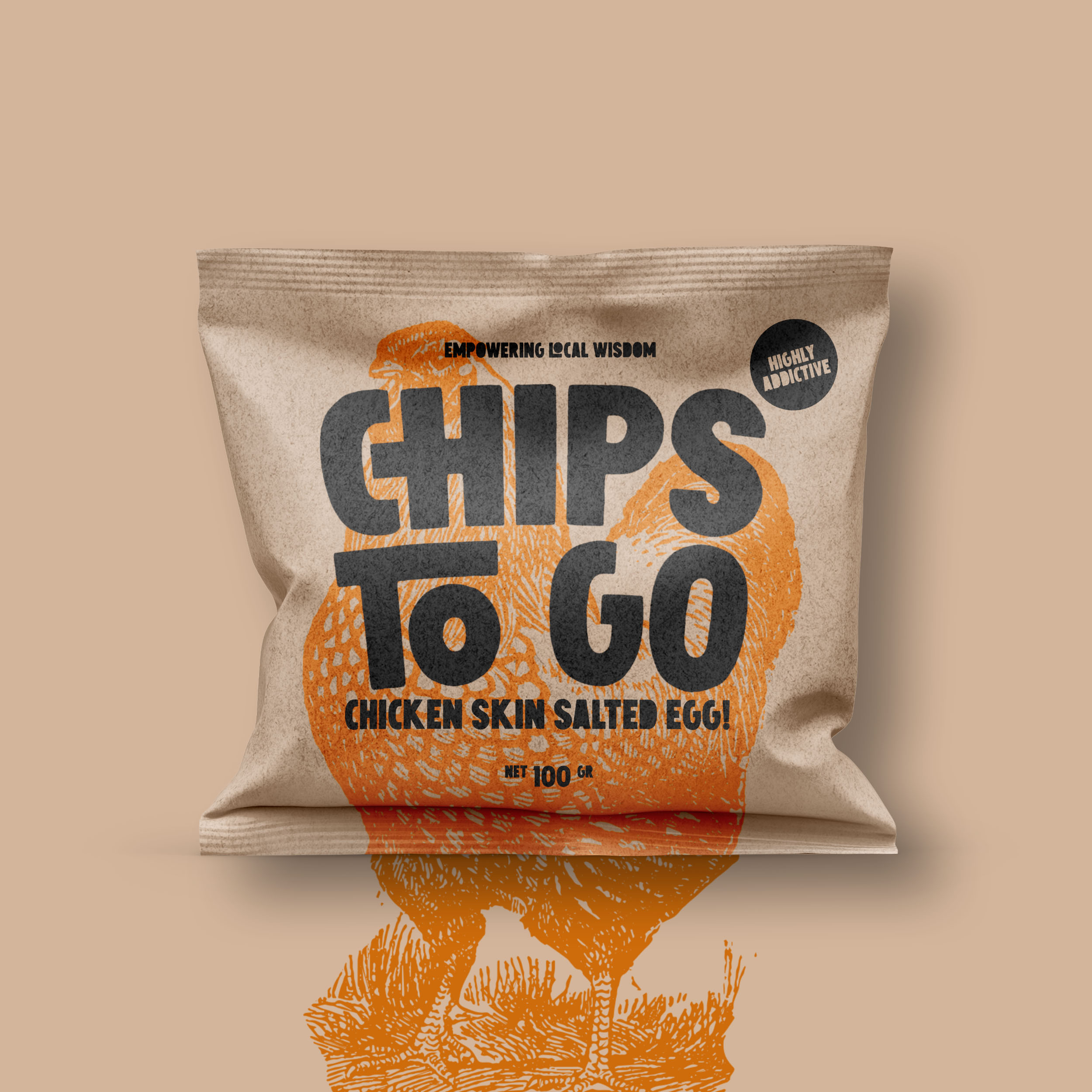"Packaging Design for Chips To Go ""Empowering Local Wisdom"""