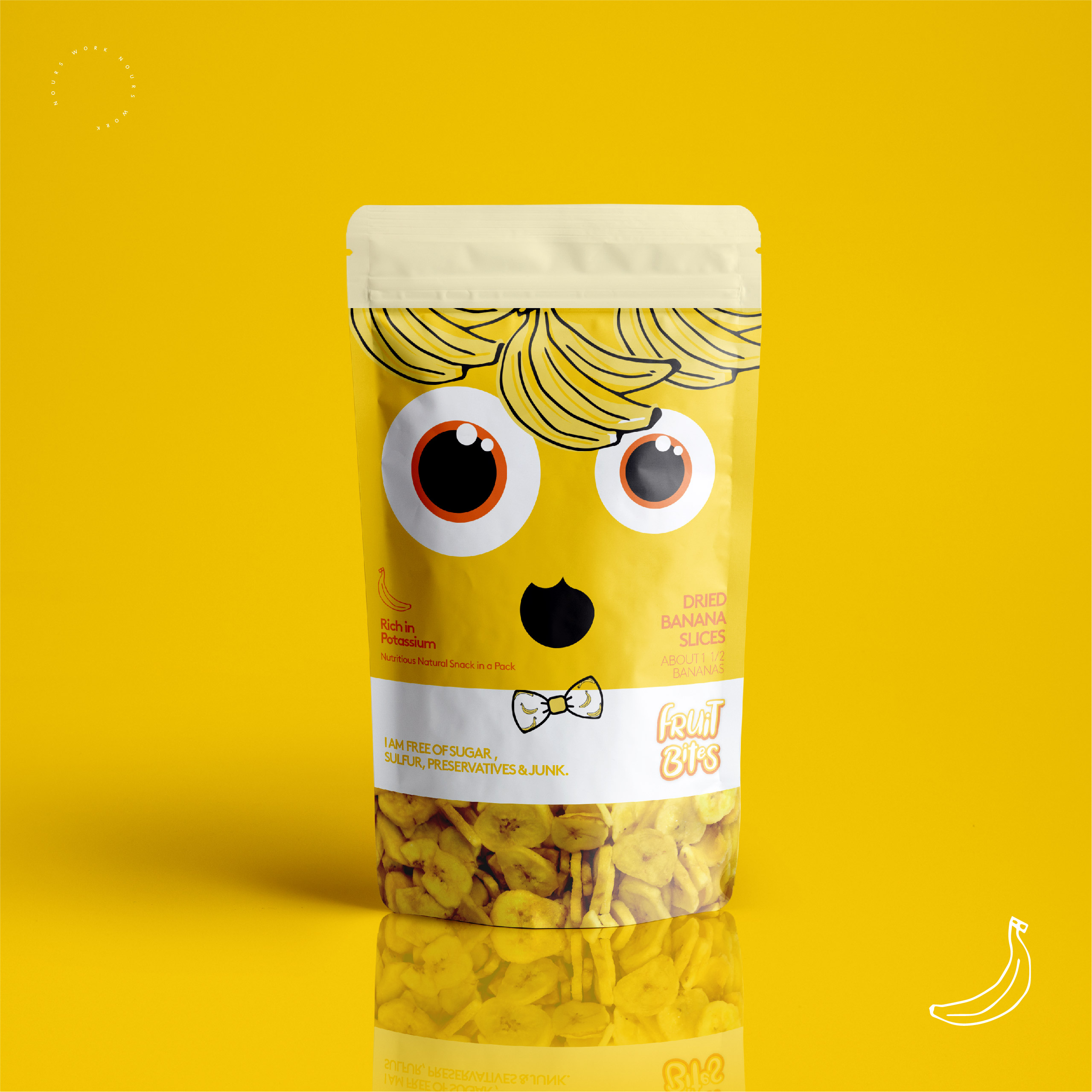 Branding and Packaging Design for Fruit Bites (dried fruits) for Kids