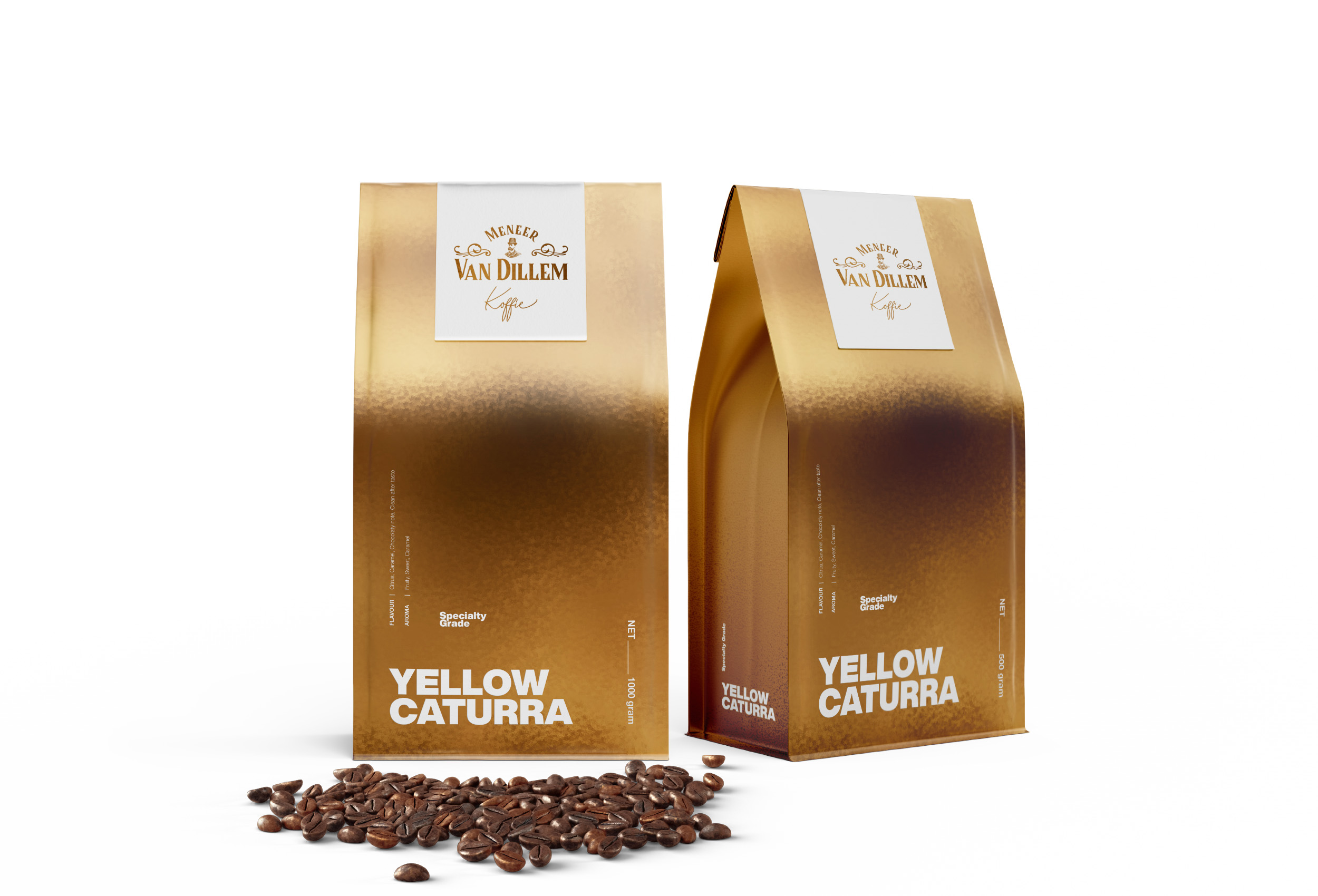 Widarto Impact do rebranding design for Meneer Van Dillem Koffie packaging