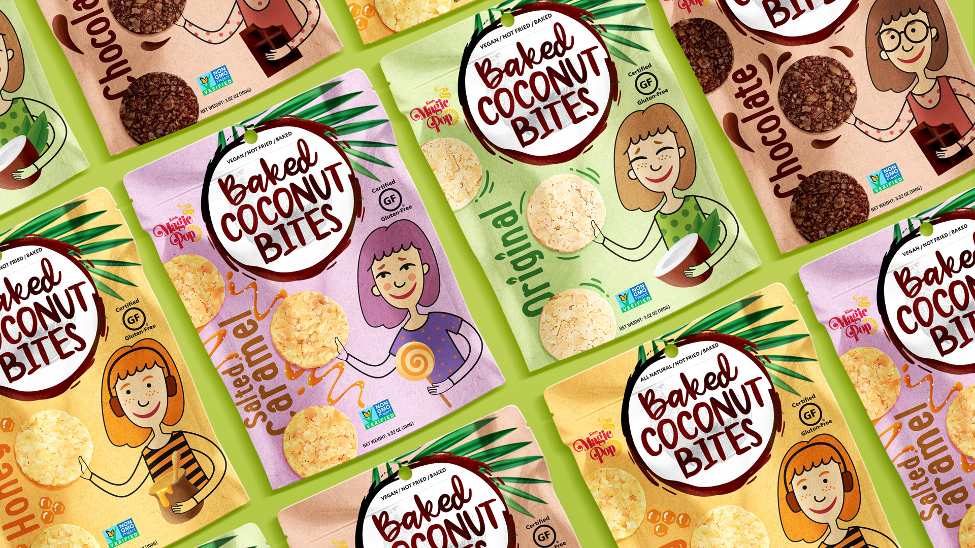 Packaging Design for Coconut Snacks COCONUT BITES