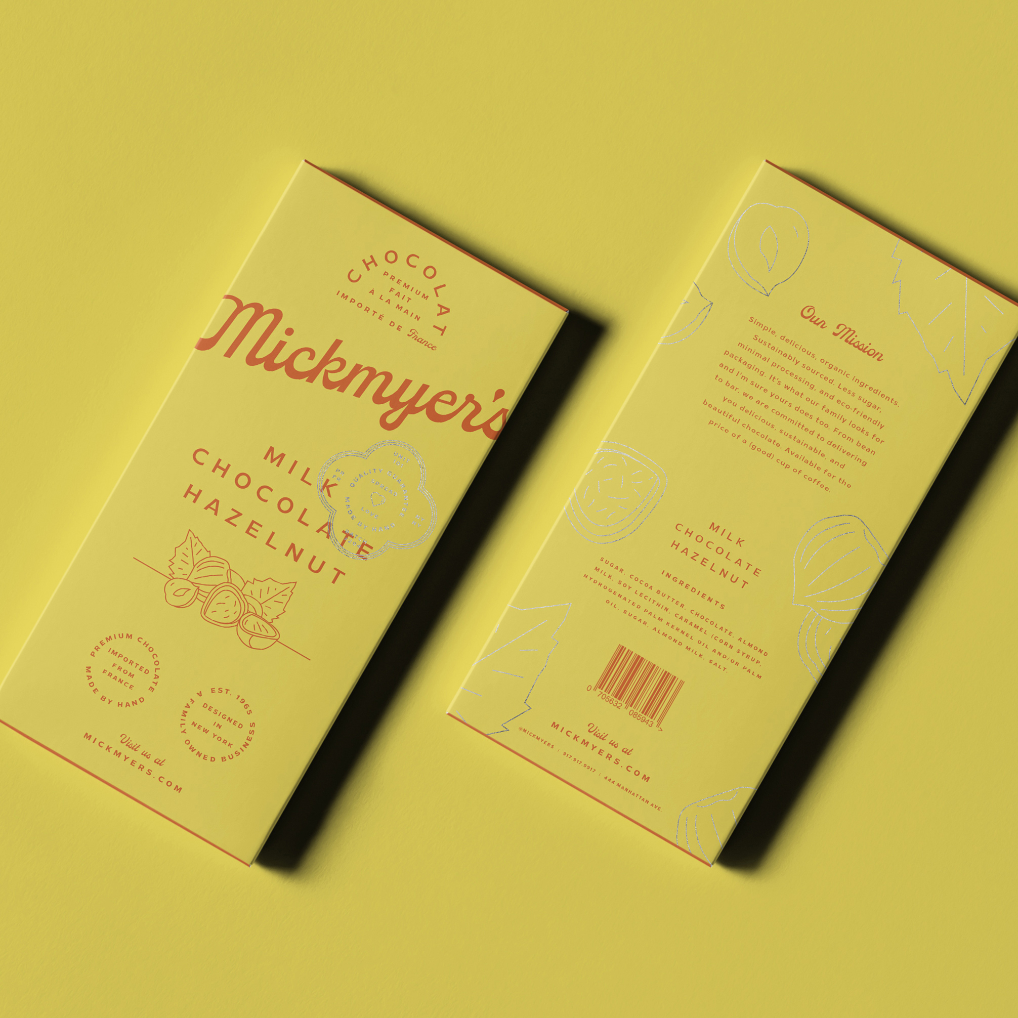 Brandon Nickerson creates new chocolate packaging design for Mickmyer's