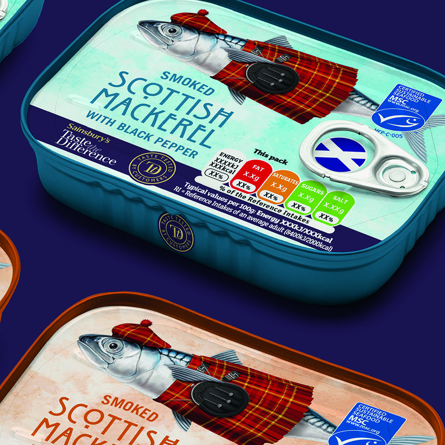 BrandMe's New Design for Sainsbury's Taste The Difference Scottish Mackerel