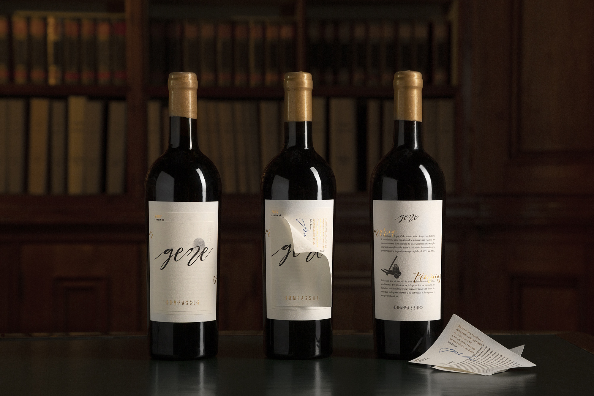 Gene Wine Label Design and Packaging Design by Moço Wine Branding