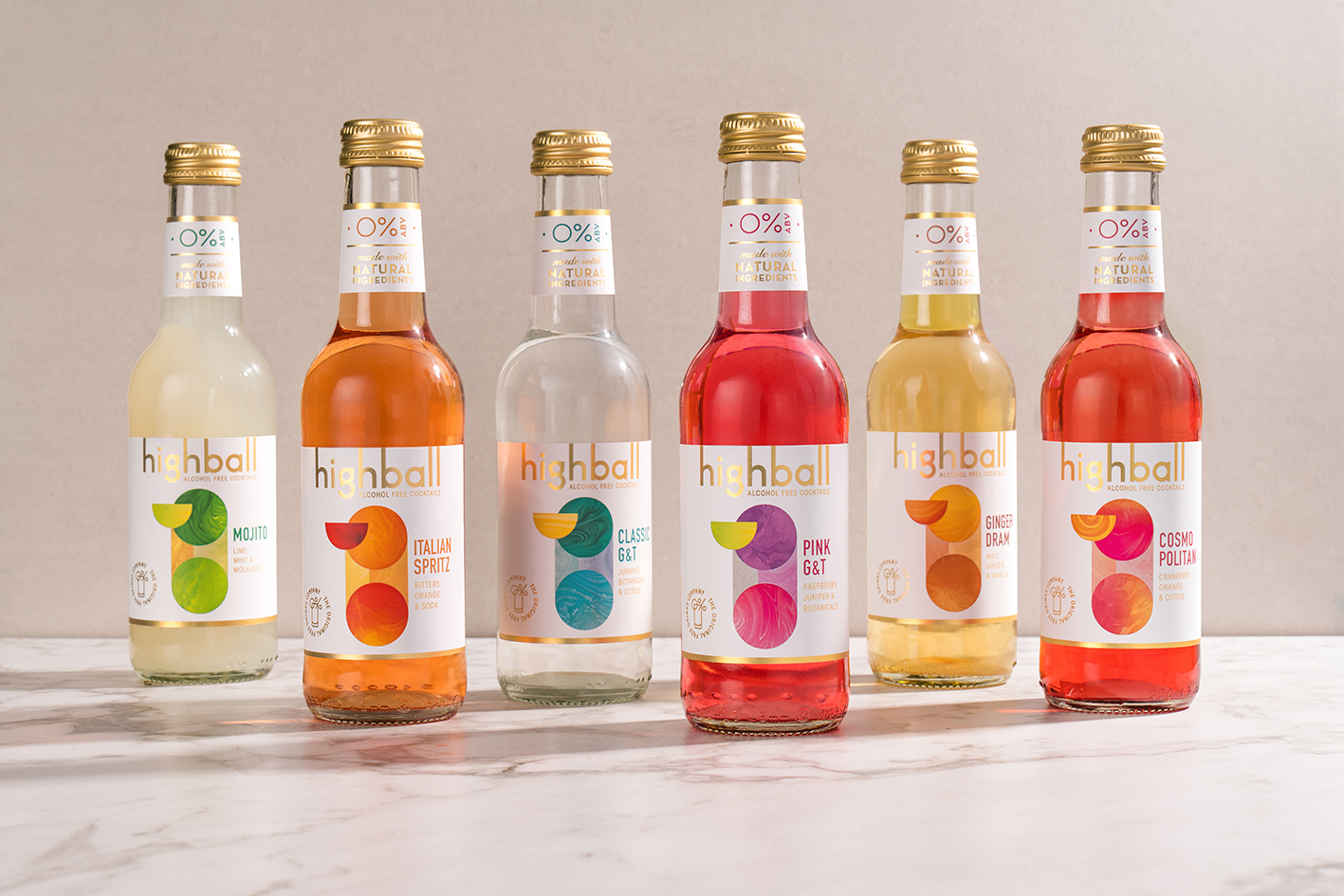 Highball Alcohol-Free Cocktails Served with Branding by Path