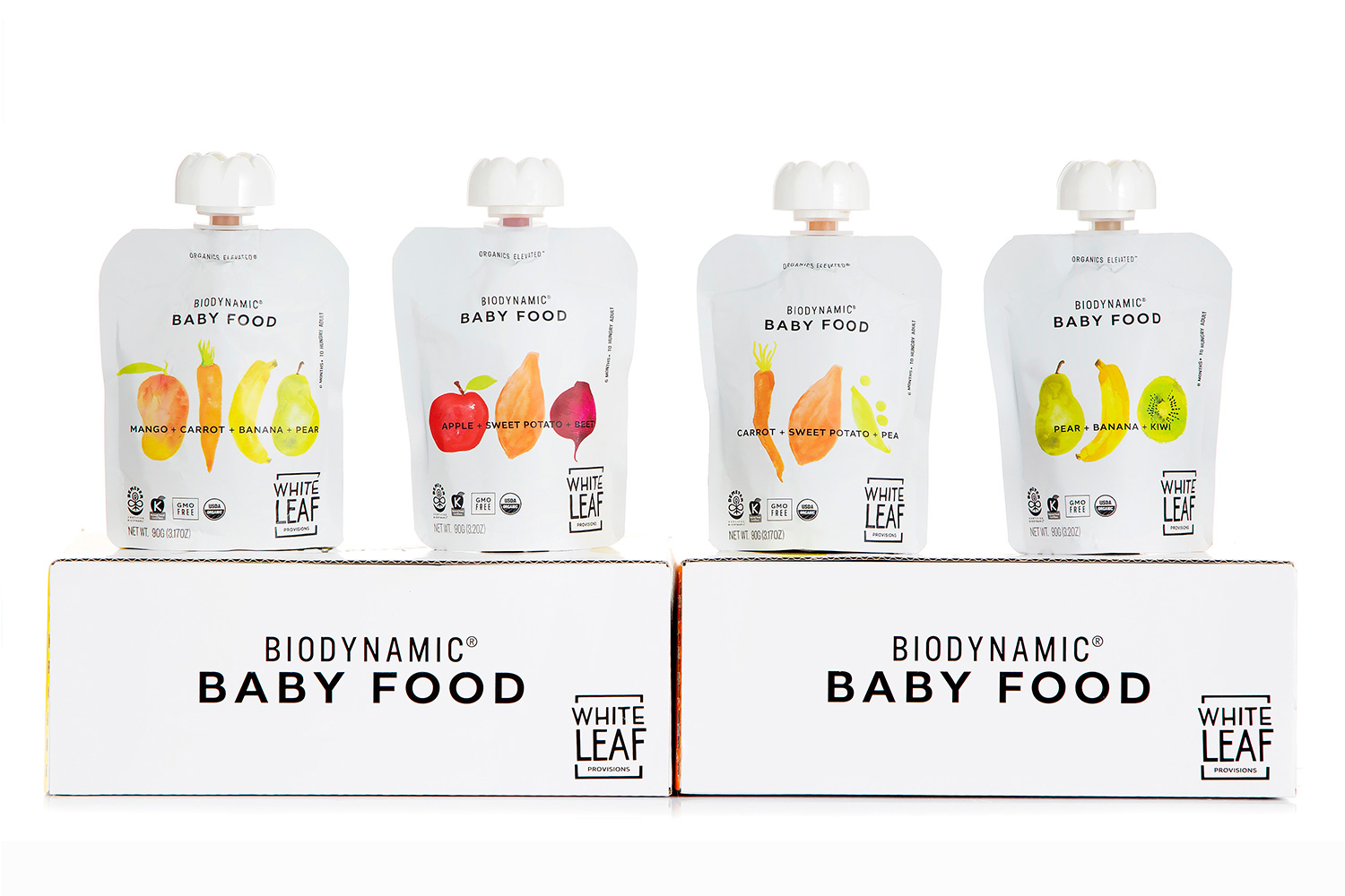White Leaf Provisions Stand Out Organic Baby Food Brand Identity & Packaging Design