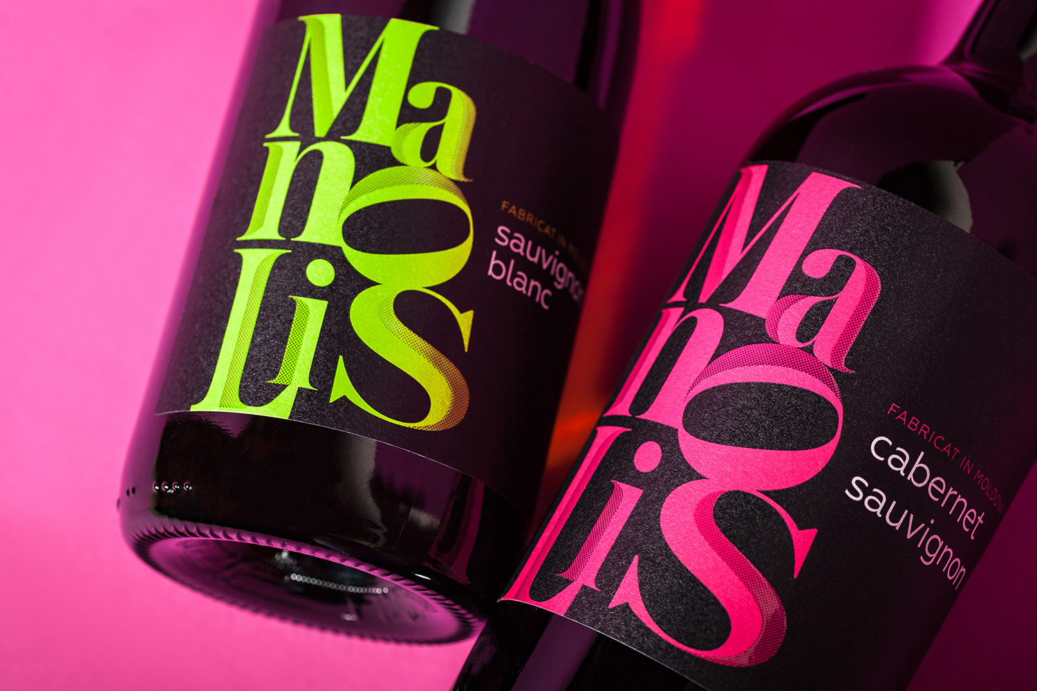 """Manolis"" Modern Wine Label Design"