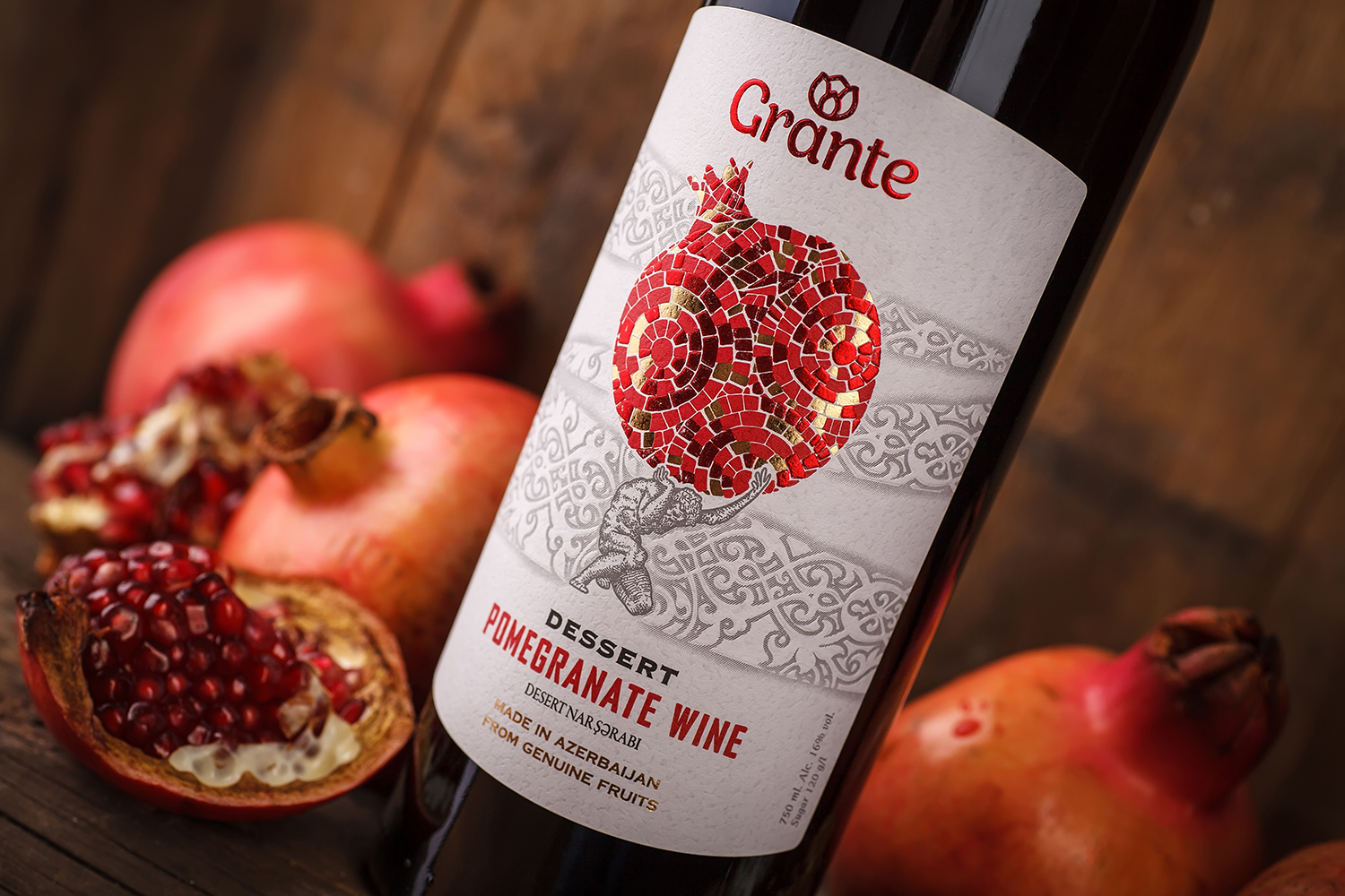 Pomegranate Wine Label Design – Grante