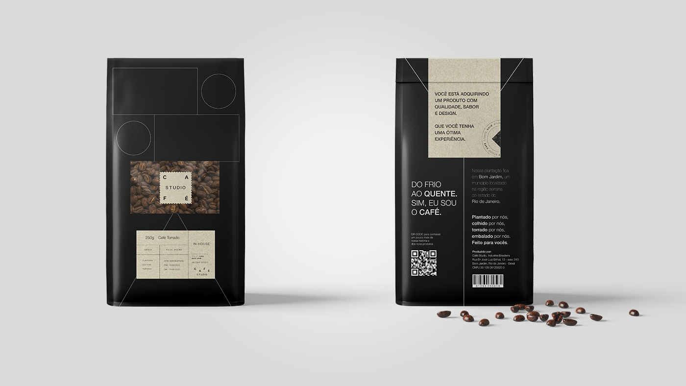 Creation of Visual Identity and Packaging for a Coffee Factory (Concept)
