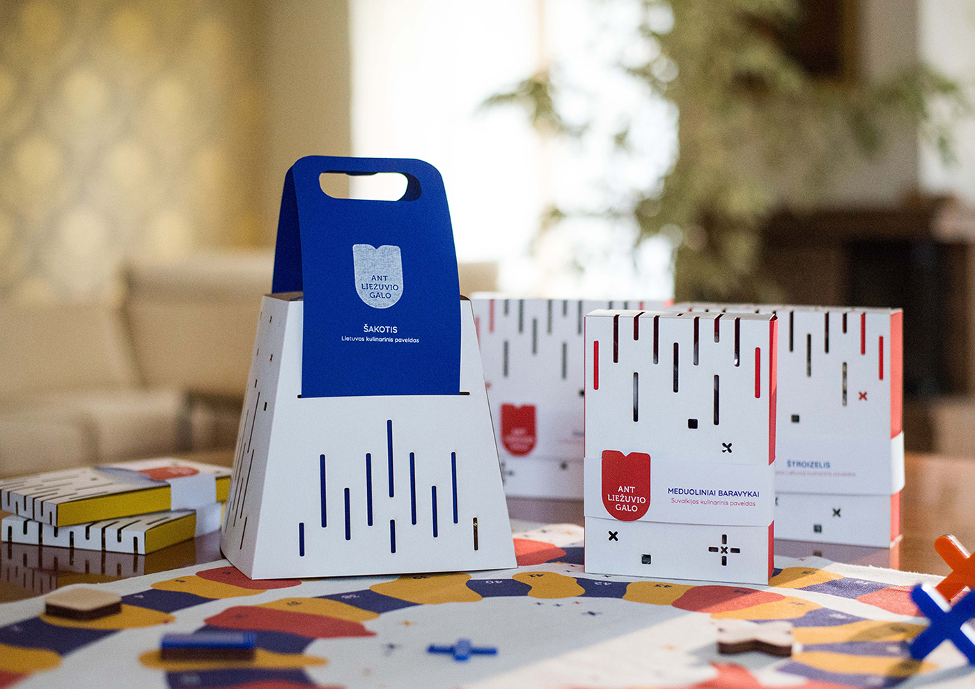Gamified Packaging Invites to Rediscover Lithuanian Language and Desserts