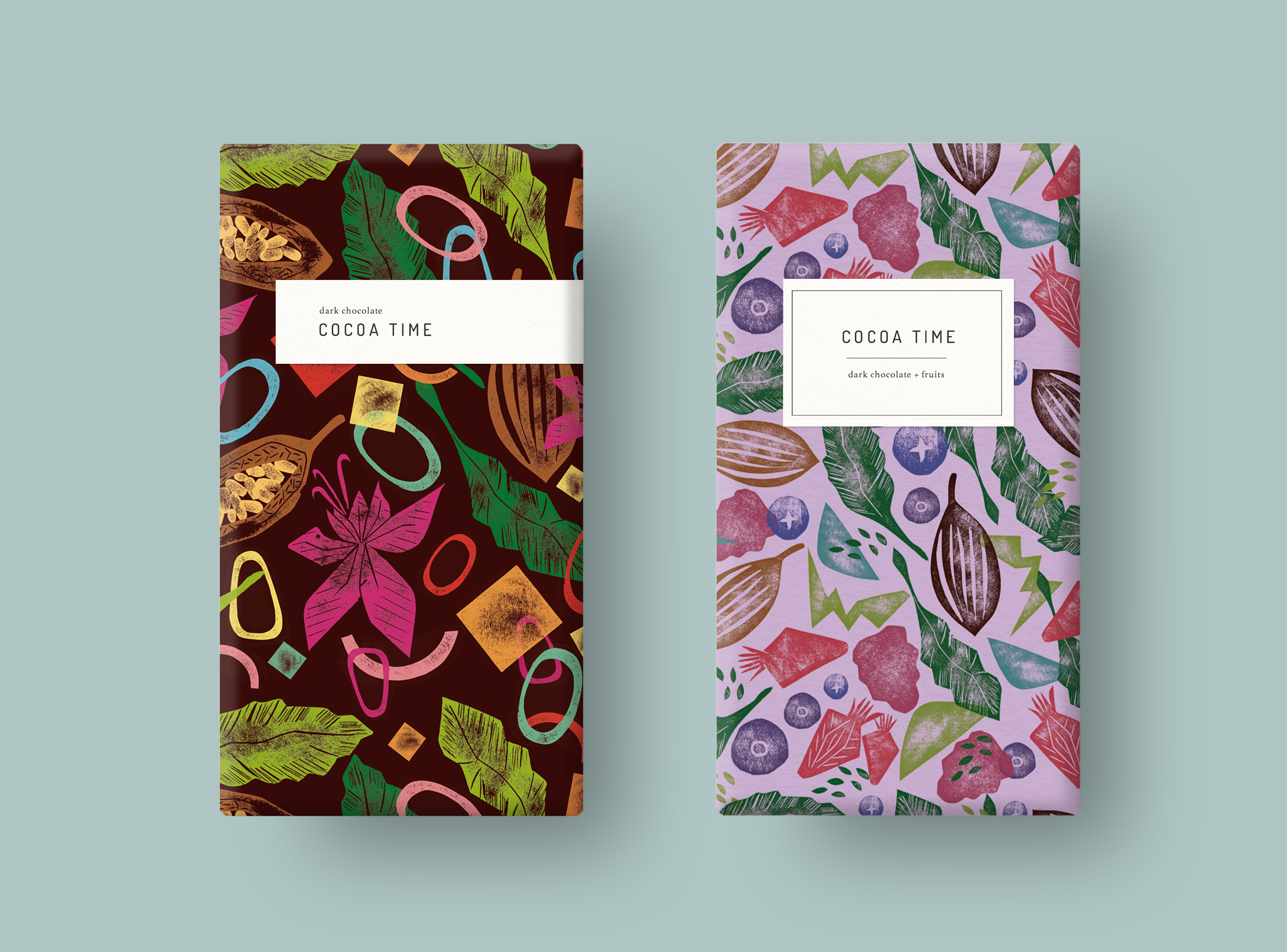 Studio Gudulab 'Cocoa Time' Patterns Proposal on Chocolate Packaging