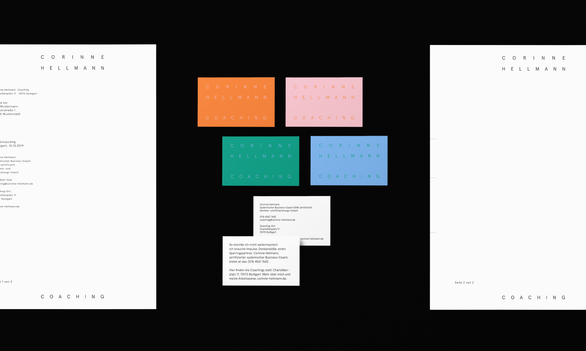 Corporate Identity and Website for Corinne Hellmann Coaching