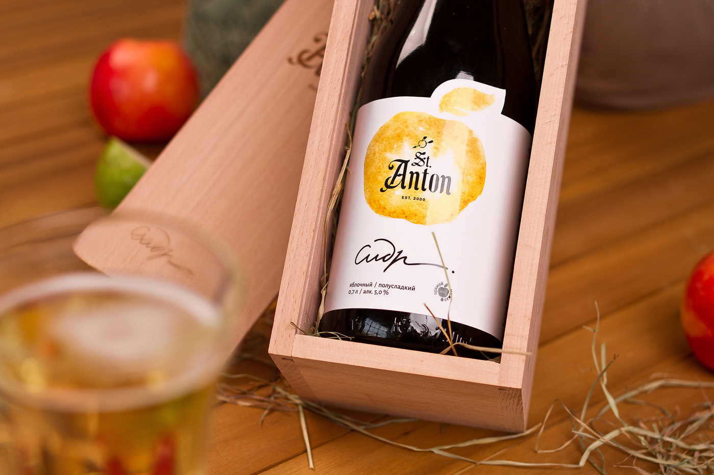 St. Anton Cider Label Design