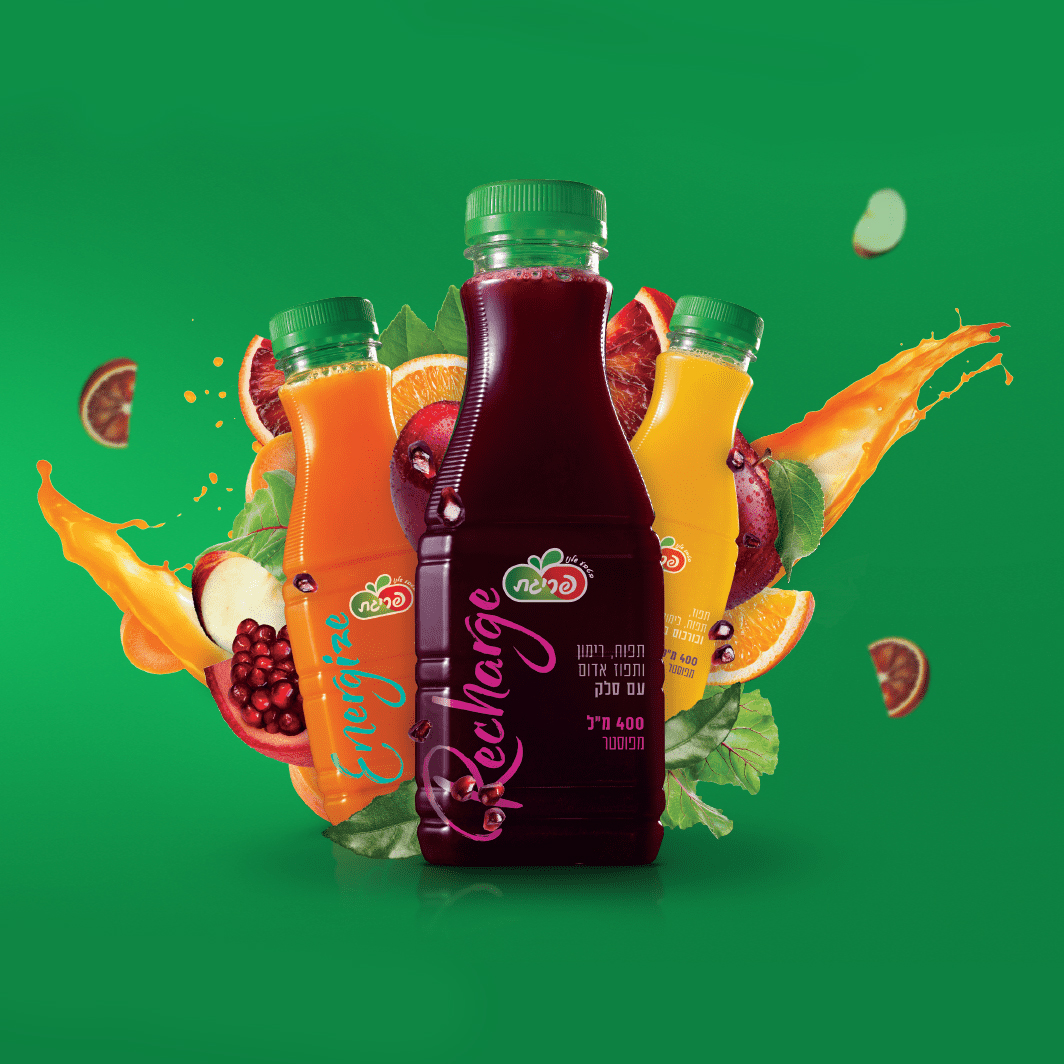 Open Creates Identity, Packaging Design and Advertisement for Prigat's New Juices