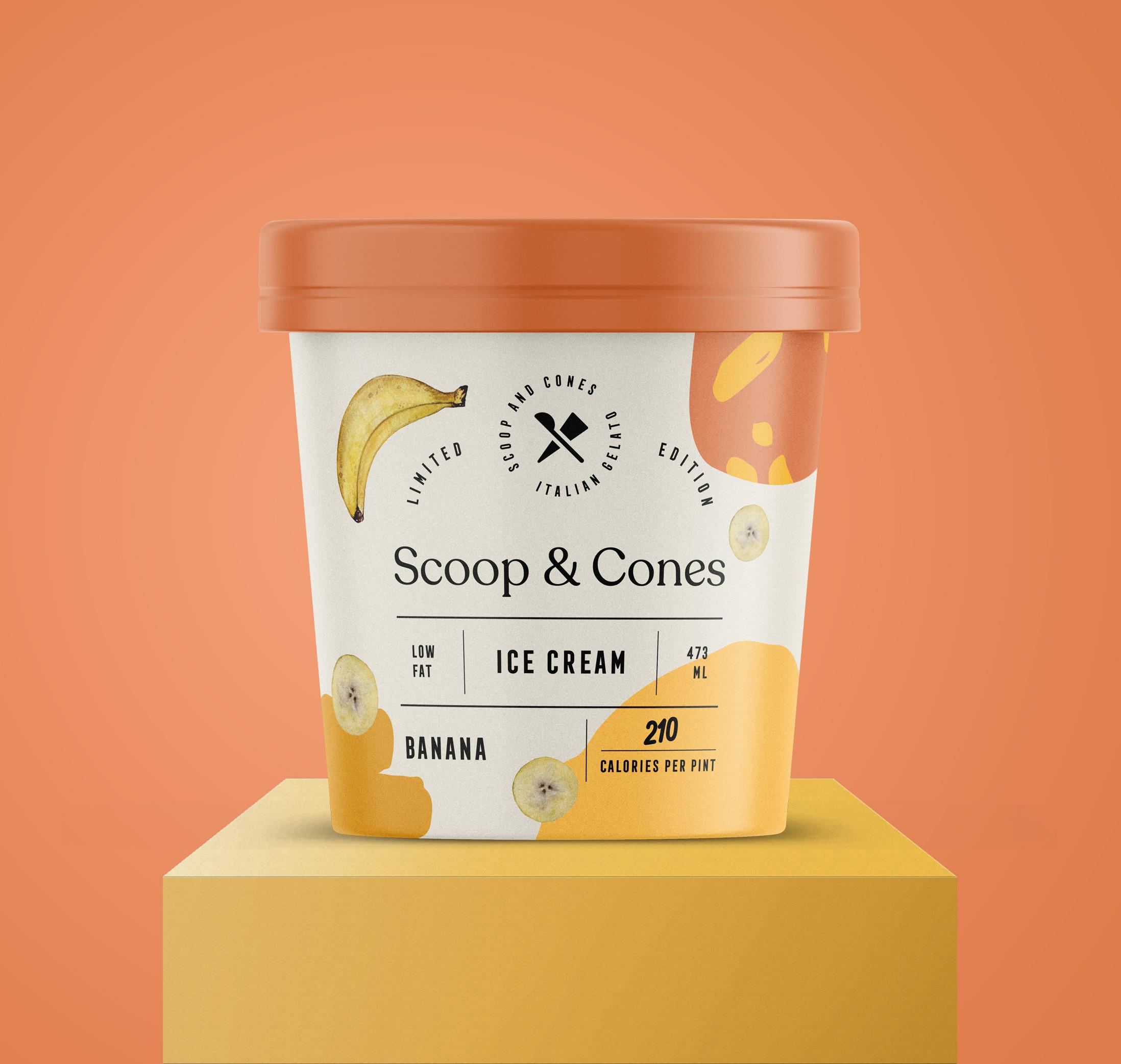 Packaging for Scoop & Cones