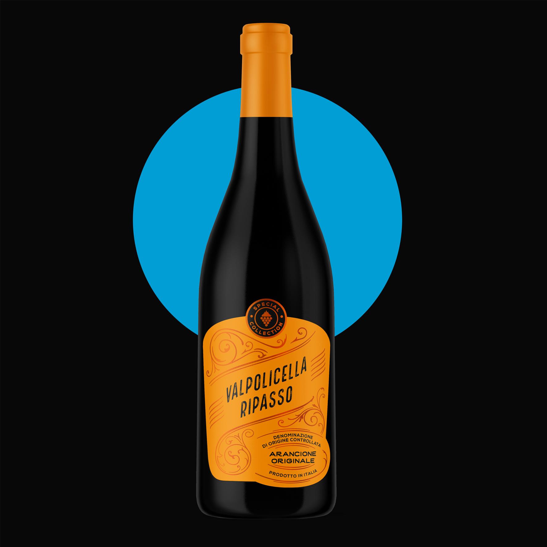 Arancione Originale Wine Labels Designed by DesignCompany