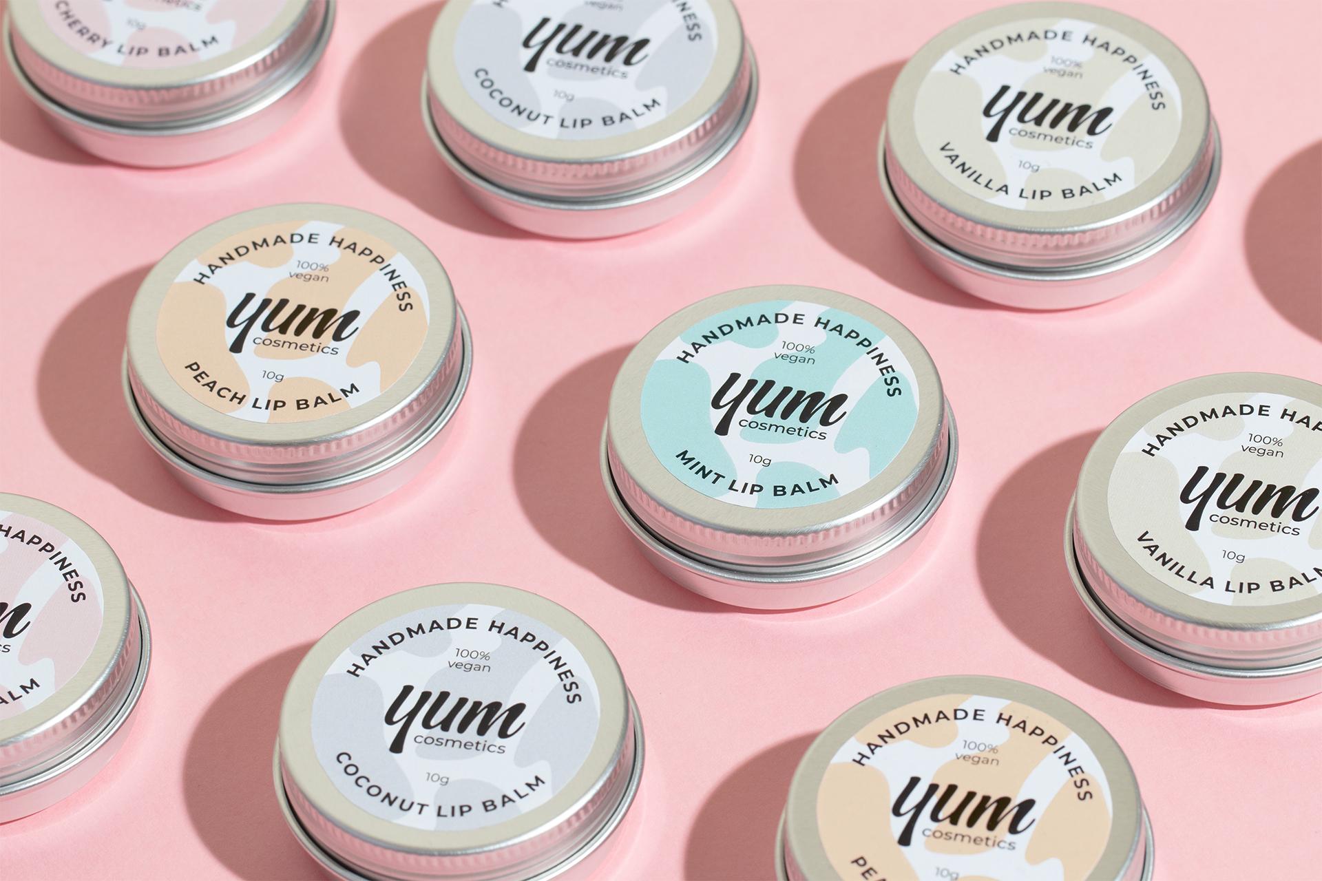 Yum Cosmetics Vegan Skincare Packaging by Alexandra Necula