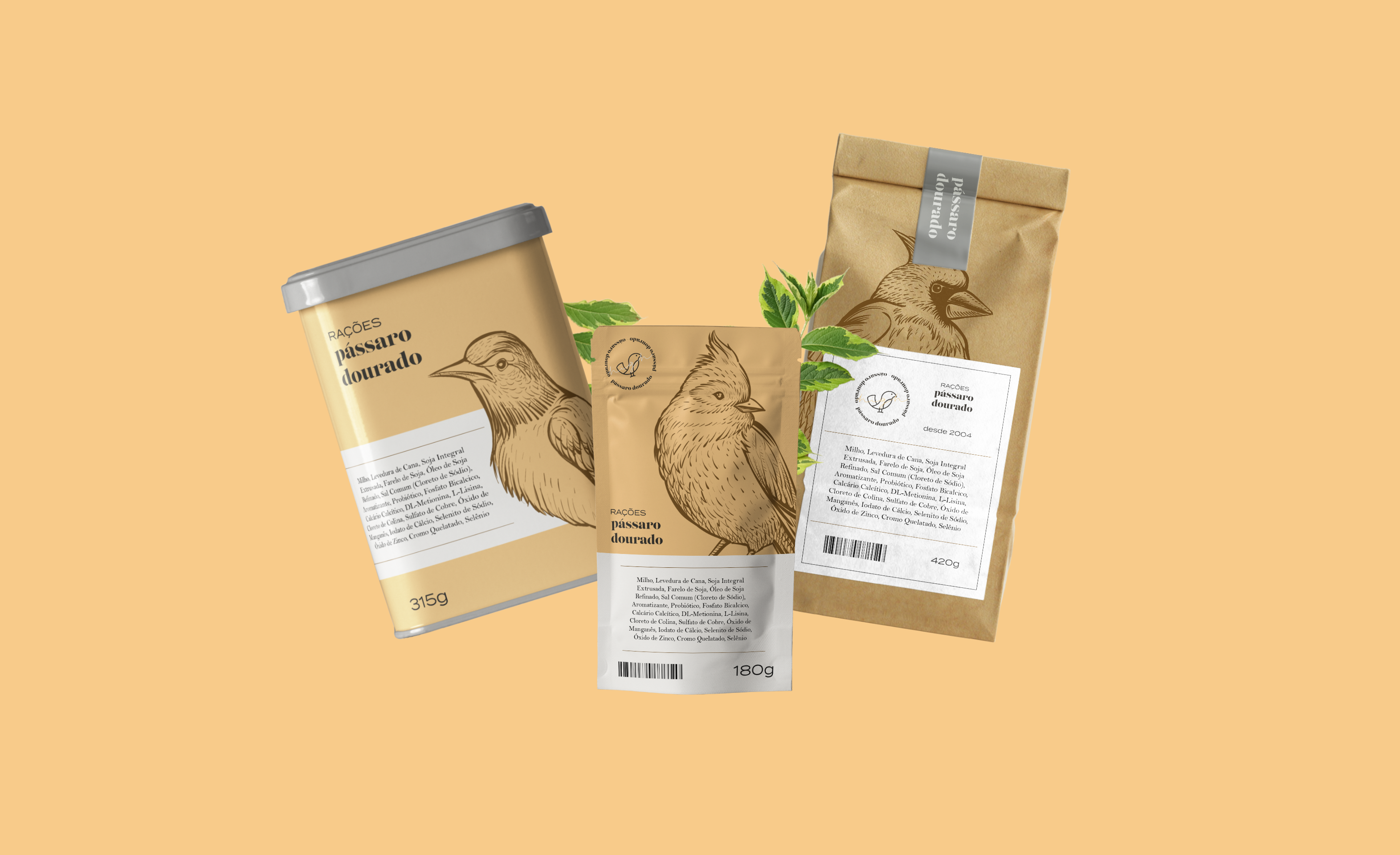 Pássaro Dourado Brand and Packaging Design