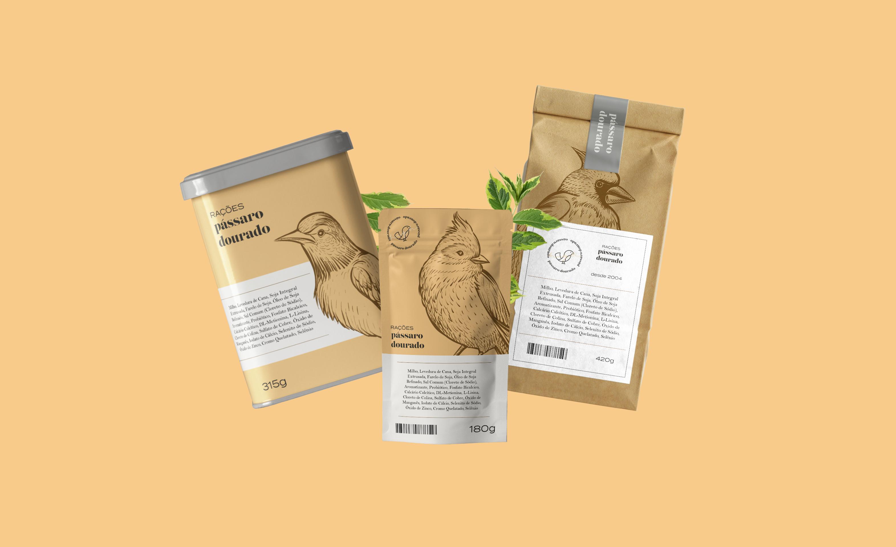 Pássaro Dourado Brand and Packaging Design