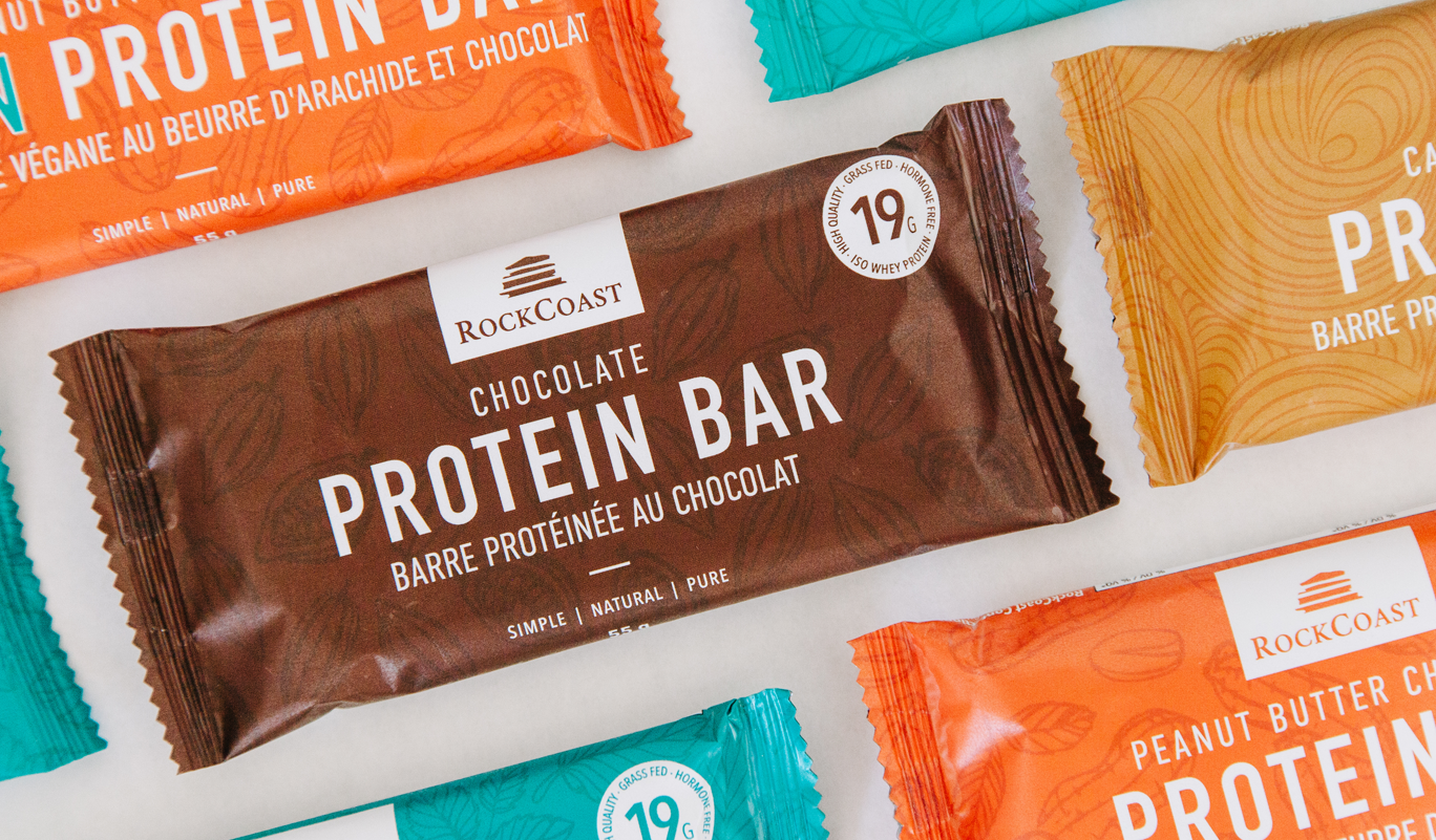 RockCoast Protein Bars Packaging